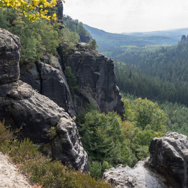 Ausblick vom Oberen Terrassenweg, nahe am Ausstieg der Starken Stiege