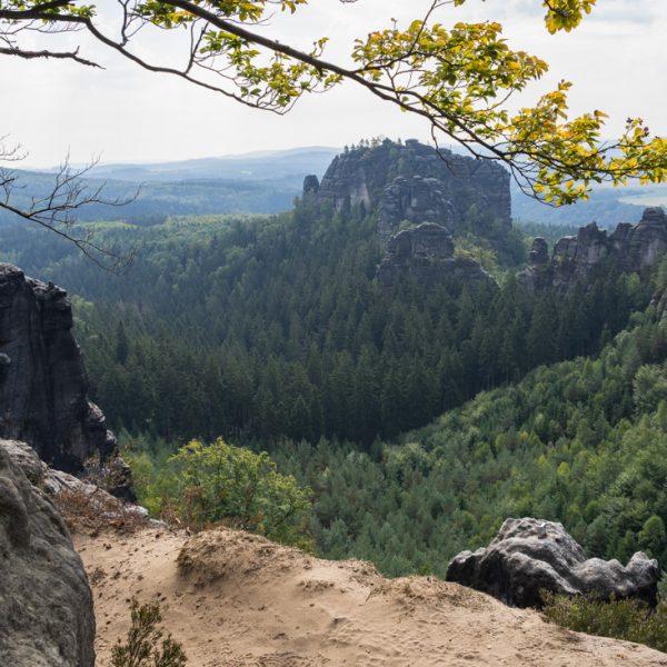 Aussicht vom Oberen Terrassenweg in Richtung Rauschenstein
