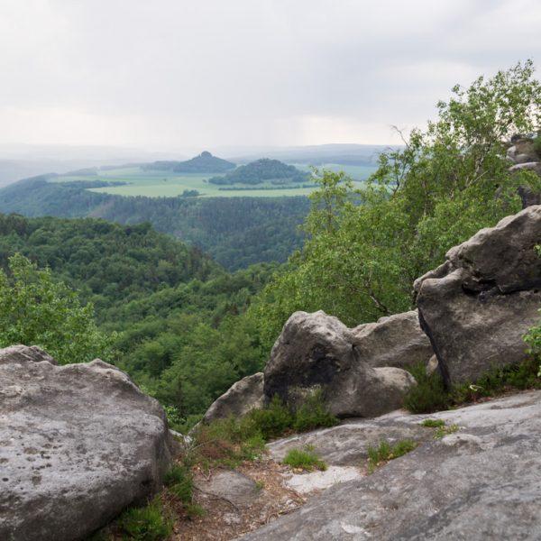 Aussicht Breite Kluft, Blick in Richtung Zirkelstein und Kaiserkrone
