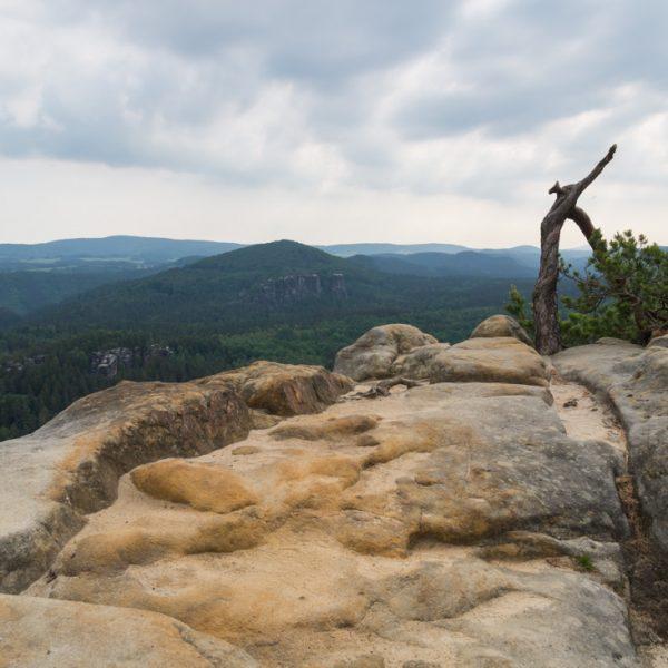 Sandstein-Plateau an der Häntzschelstiege