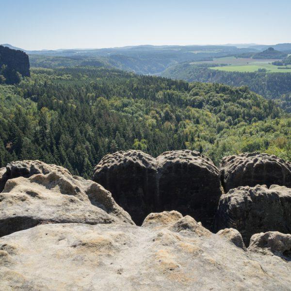 Aussicht Breite Kluft, Zirkelstein und Kaiserkrone im Hintergrund