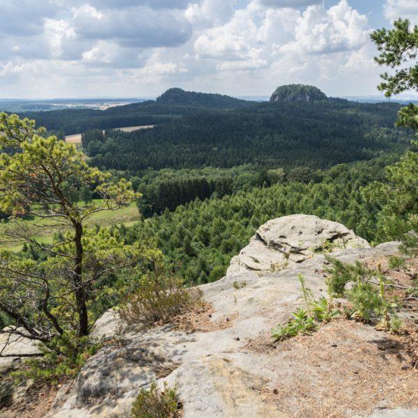 Ausblick vom Rauenstein zu den Bärensteinen