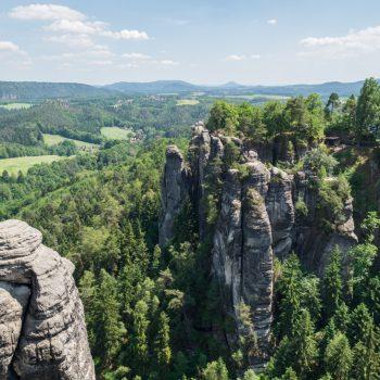 Ausblick von der Bastei nach Osten, Sächsische Schweiz