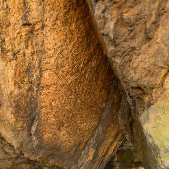 Struktur und Farben im Sandstein, Bielatal
