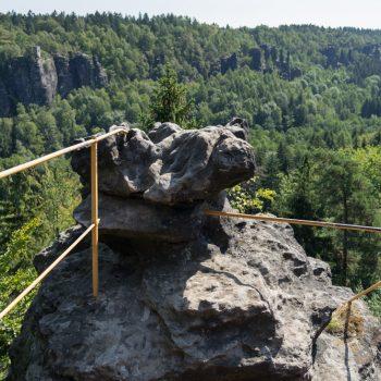Aussicht vom Sachsenstein über das Bielatal