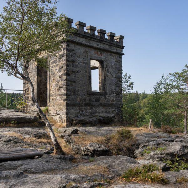 Kaiser-Wilhelm-Feste, künstliche Bastion am Bielablick