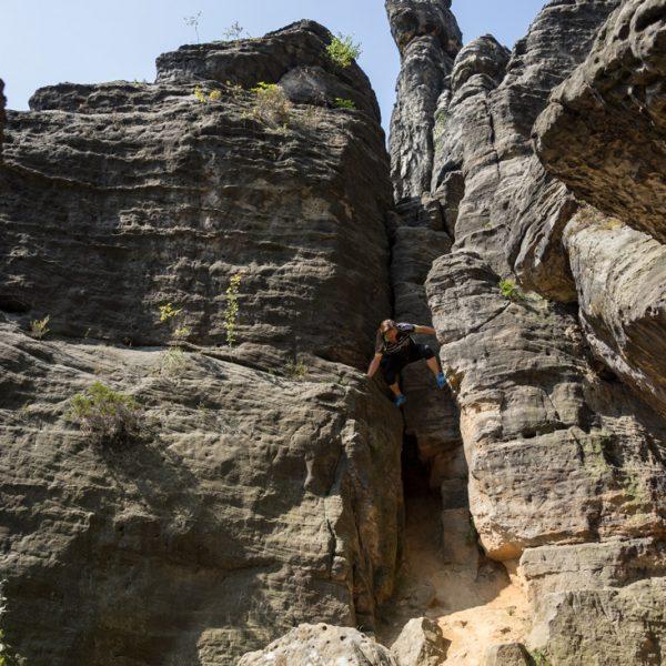 Felswände an den Herkulessäulen im Bielatal