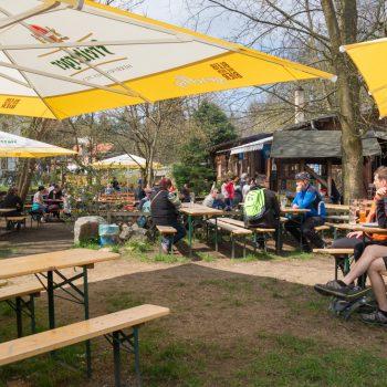 Biergarten in der Heidemühle Dresden
