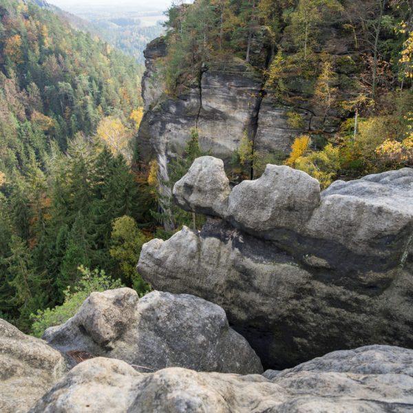 Aussicht an den Hafersäcken, Sächsische Schweiz