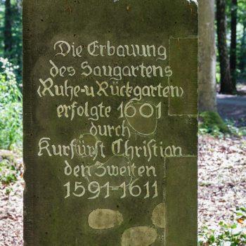 Gedenksäule am Dresdner Saugarten