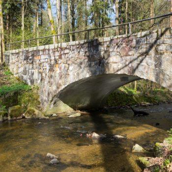 Kannenhenkelbrücke an der Prießnitz, Dresdner Heide