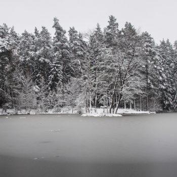 Der Stausee im Winter, Panorama