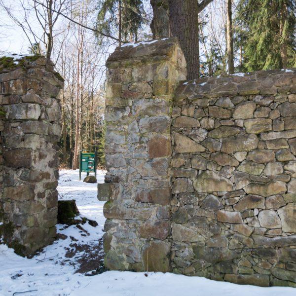 Mauer des Langebrücker Saugarten, Dresdner Heide