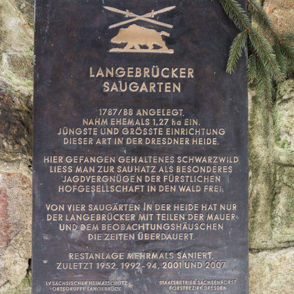 Langebrücker Saugarten, in kurfürstlicher Zeit diente er dem Jagdvergnügen