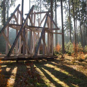 Fachwerk von Olaf Holzapfel, Wanderung Dresdner Heide