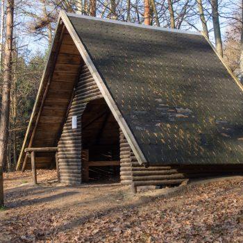 Schutzhütte am HG-Weg, Wanderung Dresdner Heide