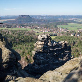Ausblick vom Gohrisch in Richtung Lilienstein