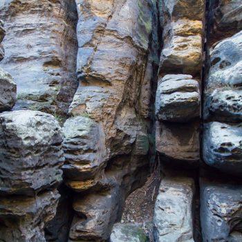 Ostaufstieg auf den Gohrisch, bizarre Felsen