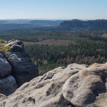 Panoramablick vom Gohrisch zum Pfaffenstein