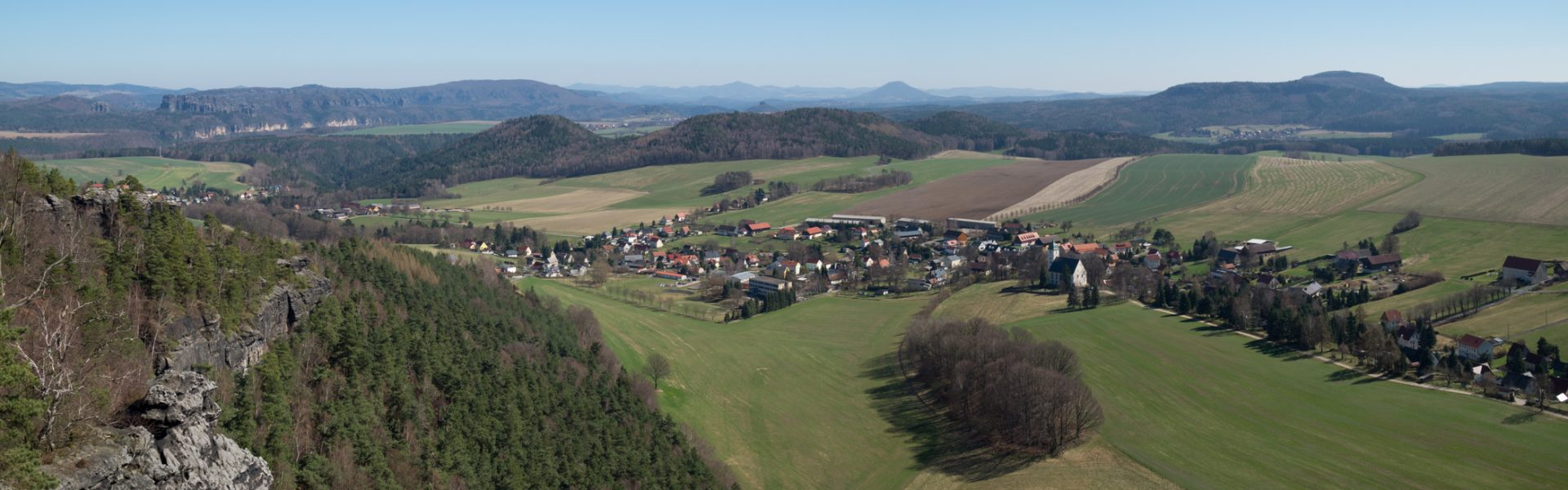 Wandern in der Sächsischen Schweiz, Ausblick von Papststein