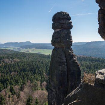 Aussicht auf die Barbarine, Pfaffenstein