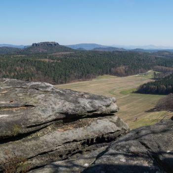 Ausblick vom Pfaffenstein auf den Gohrisch