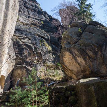 Aufstieg am Jäckelfels, Pfaffenstein