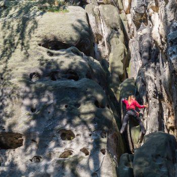Klettern am Falkenstein, Schusterweg