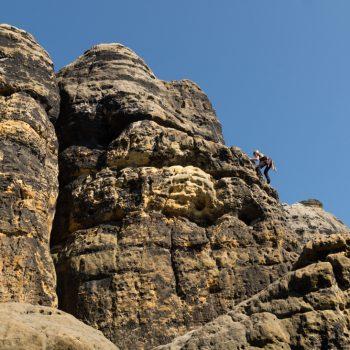 Klettern an der Löschnerwand, Spitzer Turm Schrammsteine