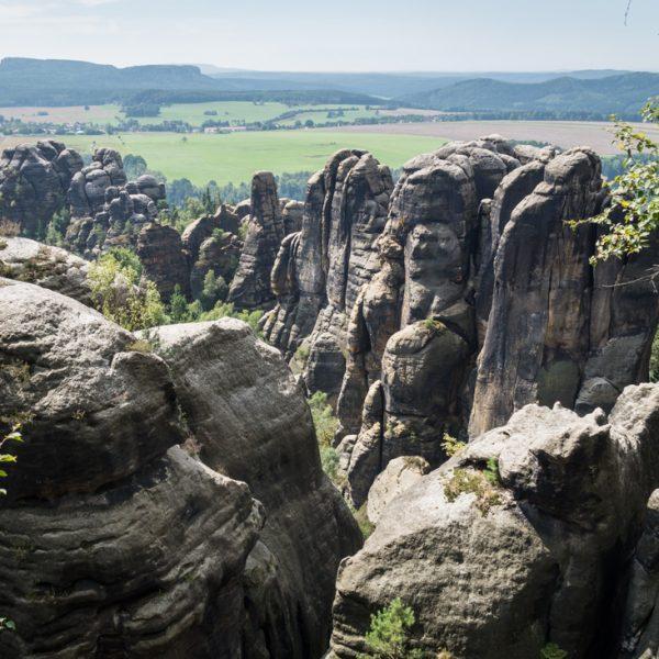 Ausblick auf die Vordere Schrammsteinkette