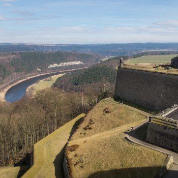 Ausblick von der Festung Königstein auf die Elbe
