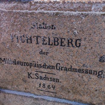 Triangulationssäule auf dem Fichtelberg, Station Fichtelberg der Mitteleuropäischen Gradmessung