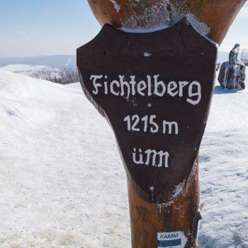 Fichtelberg, mit 1215 m ist er der höchste Berg in Sachsen