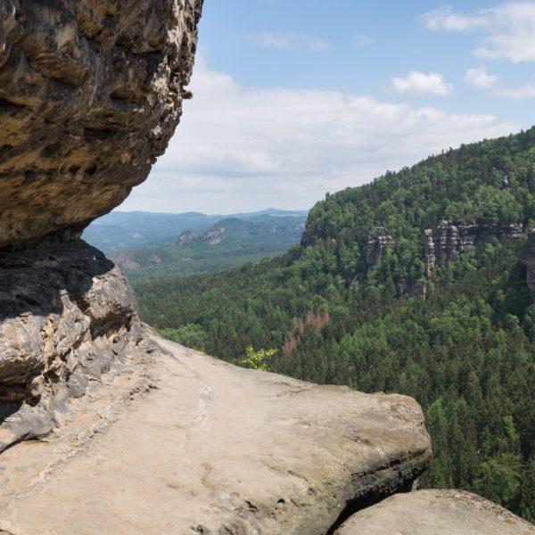 schmales Felsband am Frienstein, Hintere Sächsische Schweiz