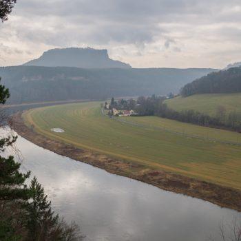 Aussicht von der Kleinen Bastei auf den Lilienstein