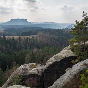 Ausblick vom Gamrig auf den Tafelberg Lilienstein
