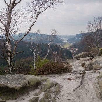 Ausblick vom Gamrig auf Rathen