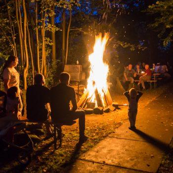 Geburtstag feiern am Lagerfeuer, Dresdner Heide
