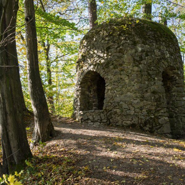 Rundturm, künstliche Ruine Goßdorfer Raubschloss