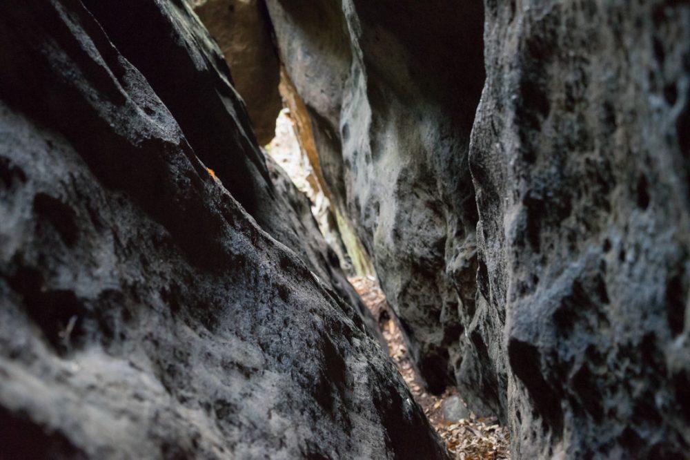 Aufstieg durch die Schweineschlucht, Großer Lorenzstein