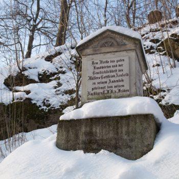 Gedenkstein zu Ehren von Müller Gottfried Arnold, Hüttertal