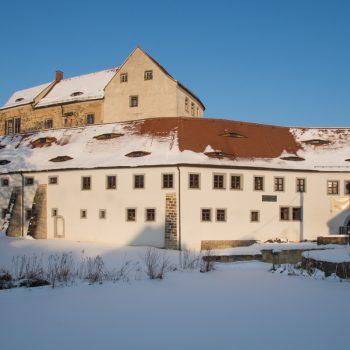 Blick auf das Schloss Klippenstein in Radeberg