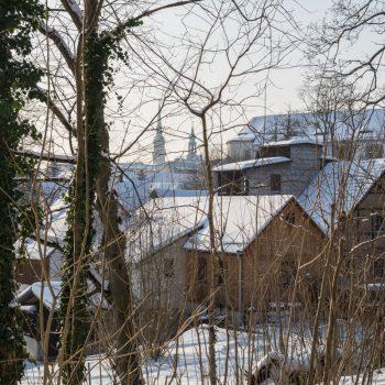 Blick auf die Schlossmühle und das Schloss Klippenstein