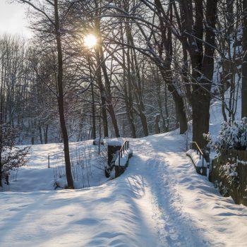 Hüttertal im Winter, Lichtstimmung am Nachmittag