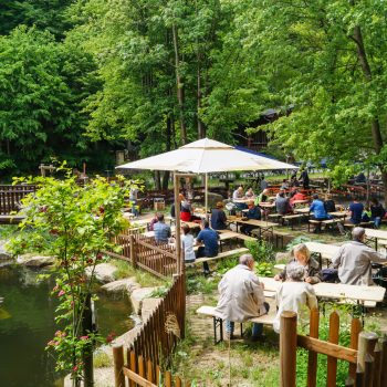Biergarten direkt am Teich, Heidemühle