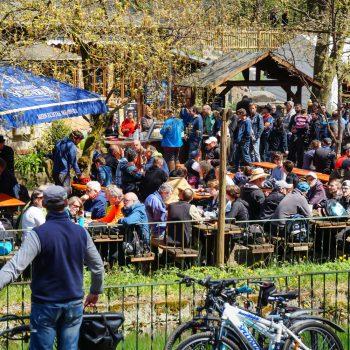 Biergarten der Heidemühle am Männertag