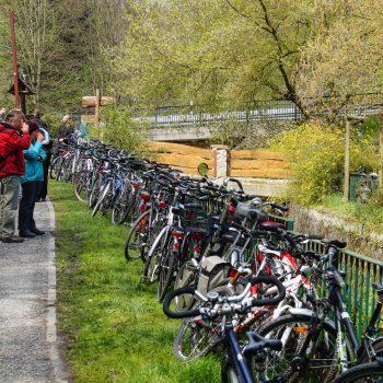 Fahrräder in der Heidemühle am Männertag