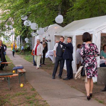 Gartenanlage neben der Jägerbaude, Hochzeitsfeier