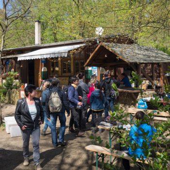 Biergarten Heidemühle im Frühling
