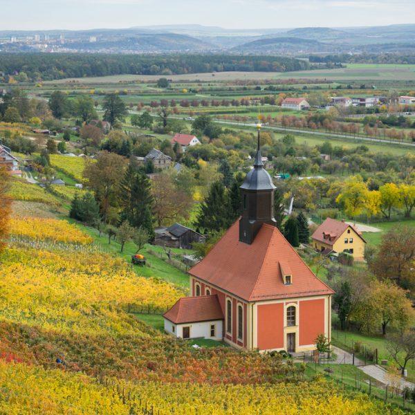 Weinbergkirche Pillnitz im Herbst